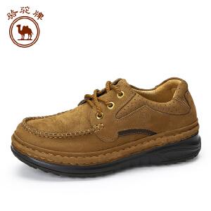 骆驼牌 秋季厚底休闲男士皮鞋工装鞋舒适耐磨