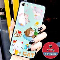 苹果7plus手机壳iPhone8卡通情侣6s玻璃防摔8p个性创意6p潮牌女款8x七保护套软边硅胶8