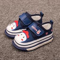 夏季新品新品会响的鞋子婴儿学步鞋防掉跟宝宝叫叫鞋休闲单鞋软底防滑0-2岁地板不掉步前鞋防滑运动机能鞋