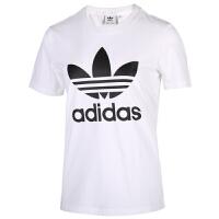 Adidas阿迪�_斯女�b三�~草短袖休�e�\��T恤FM3306