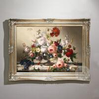 欧式花卉油画手绘走廊壁画客厅挂画玄关装饰画餐厅定制画竖版 95*170 手工油画(单幅价格)