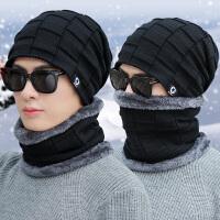 帽子男冬天时尚韩版针织包头帽加绒加厚套头棉帽保暖防风潮毛线帽