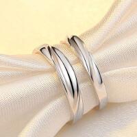 情侣戒指S925银饰品韩版一对价简约创意个性刻字