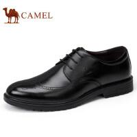 camel 骆驼男鞋 秋冬新品商务正装真皮布洛克雕花系带男士皮鞋