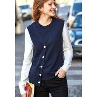 【预估价155元】Amii极简学院风撞色套头毛衣女2019秋新圆领不规则拼接针织衫上衣