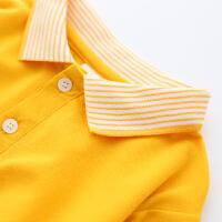 儿童长袖polo衫男童圆领套头中大童长袖T恤
