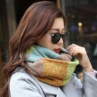 保暖针织毛线围脖女士围巾两用秋冬季女套头学生时尚