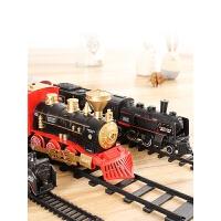 小火车套装仿真轨道古典轨道玩具高铁复古蒸汽玩具男孩