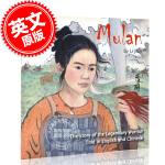 现货 花木兰 传奇战士的故事 中英双语 水墨画儿童绘本 平装 4-8岁 Mulan: The Story of the