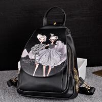 韩版印花小背包时尚潮流女包学院风两用女士旅行包休闲书包