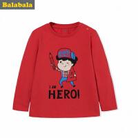 巴拉巴拉童装男童长袖T恤儿童秋装2017新款小童宝宝卡通套头衫