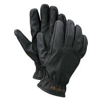 土拨鼠秋冬新款户外运动男式分指防水皮质手套V1677