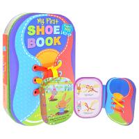 My First Shoe Book 动手学系鞋带 儿童认知英语启蒙纸板书 英文原版图书