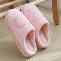 冬天棉拖鞋女室内厚底防滑情侣家居拖鞋保暖月子鞋可爱棉毛拖