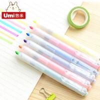 韩国可爱创意文具黑卡笔diy相册笔涂鸦笔水彩笔荧光笔替芯