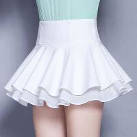 超短裙女高腰安全裤内衬小裙子夏迷你小个子蛋糕裙百褶蓬蓬半身