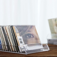 cd架碟片架时尚简约设计亚克力透明水晶感多格桌面CD盒碟片收纳盒CD陈列架