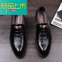 新品上市韩版休闲皮鞋男鞋英伦商务正装皮尖头皮鞋增高工作皮鞋休闲鞋
