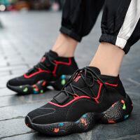 运动鞋男鞋休闲跑步鞋男女韩版飞织运动鞋子潮流男鞋休闲板鞋旅游情侣鞋