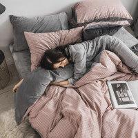珊瑚绒纯棉四件套棉冬季水晶法兰绒学生宿舍床上三件套被套床单