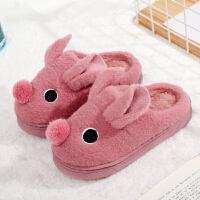 秋冬季宝宝拖鞋卡通居家室内男童女童棉拖鞋包跟防滑儿童包头拖鞋