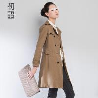 初语风衣外套双排扣大衣英伦风上衣薄款显瘦女8530622906