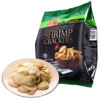 【当当海外购】印尼进口  鲜虾休闲零食小吃 啪啪通虾片海苔味40g*4袋