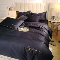床上四件套纯棉网红款床单被套欧式60长绒棉裸睡婚庆床上用品 2.0m床 四件套 被套220*240cm