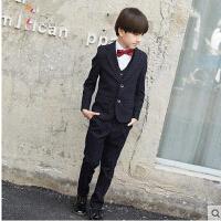 韩版小西装演出服男童西装礼服套装加厚花童婚礼西服儿童