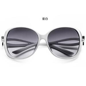 货到付款 Yinbeler女士圆脸太阳镜潮 大框墨镜方形复古潮女个性蝴蝶装饰墨镜太阳眼镜