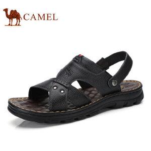 camel骆驼男凉鞋  夏季新品 真皮牛皮沙滩凉鞋 厚底休闲凉拖鞋