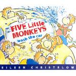 Five Little Monkeys Wash the Car 五只小猴洗车 英文原版 廖彩杏书单