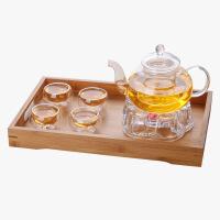 当当优品 灵香玻璃茶具套装 手工吹制 耐热玻璃 双层茶杯 茶具 套装