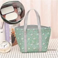 日式风带饭的饭盒包手提包装午餐便当袋子防水保温袋铝箔加保暖女