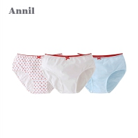 【活动价:59.5】安奈儿童装女童内裤秋季新款三角底裤三件装EG807101