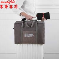 【满2件6折】茉蒂菲莉 旅行包 男女士手提可折叠收纳韩版新款衣物可套拉杆箱男女式时尚手拎行李袋男女包