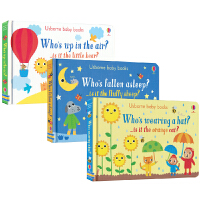 Usborne Baby Books Collection 幼儿问与答纸板书3册 全彩插图 0~3岁儿童英语启蒙认知