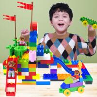 �和�玩具益智塑料拼插方�K�w粒拼插拼�b�e木