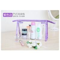 旅行便携透明女士化妆包洗发水收纳袋防水加厚PVC沙滩包
