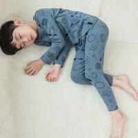 童装男童保暖内衣套装睡衣春秋衣儿童中大童打底衫
