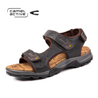 骆驼动感(camel active)凉拖鞋男 牛皮透气舒适沙滩鞋