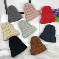 秋冬加厚麻花尖尖毛线帽外保暖护耳帽情侣百搭尖尖帽学生简约冷帽
