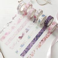 樱花系列烫金和纸胶带 创意手帐相册日记DIY贴画装饰