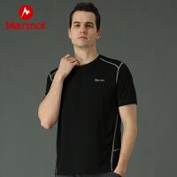 Marmot/土拨鼠20新款户外轻量透气男士吸湿速干短袖T恤