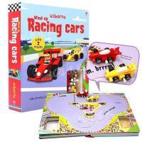 进口英文原版绘本 Wind-up Racing Cars 发条轨道赛车儿童游戏玩具纸板书 附玩具 大开