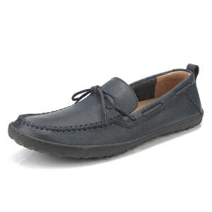 Clarks/其乐男鞋2017秋冬新款套脚一脚蹬驾车休闲鞋Richhill Life专柜正品直邮