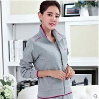 女款中年大码妈妈装时尚韩版卫衣三件套装中老年女士运动服套装