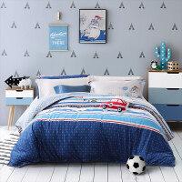 儿童四件套全棉纯棉床上用品床单人床笠三件套床上用品
