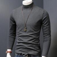 秋冬季中半高领打底衫加厚保暖男秋衣服男士长袖T恤修身韩版男装