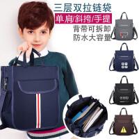 包邮帆布 补习袋儿童补习包手提小学生书包美术书袋补课包学习手提袋